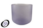 "7"" Translucent Blue Fluorite Fusion Crystal Singing Bowl"