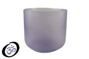 "9"" Translucent Blue Fluorite Fusion Crystal Singing Bowl"