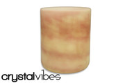 "8"" Opaque Coral Crystal Singing Bowl"