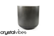 "7"" Opaque Obsidian Crystal Singing Bowl"