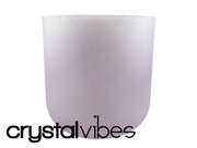 "7"" Opaque Lepidolite Crystal Singing Bowl"