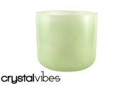 "9"" Translucent Prehnite Fusion Crystal Singing Bowl"