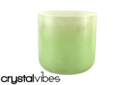 "8"" Opaque Prehnite Crystal Singing Bowl"