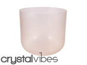 "7"" Translucent Morganite Fusion Crystal Singing Bowl"