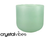 "10"" Translucent Malachite Quartz Fusion Crystal Singing Bowl"