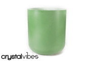 "7"" Opaque Malachite Quartz Crystal Singing Bowl"