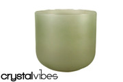 "9"" Translucent Peridot Quartz Fusion Crystal Singing Bowl"