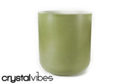 "7"" Opaque Peridot Quartz Fusion Crystal Singing Bowl"
