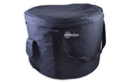 """XTRA LARGE  BLACK DELUXE CRYSTAL VIBES SINGING BOWL CARRYING CASE 17-20"""""""