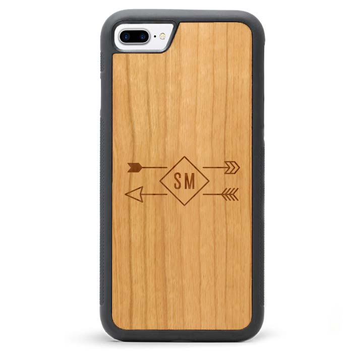 Custom Monogram Real Wooden iPhone 7 PLUS Cases Arrows