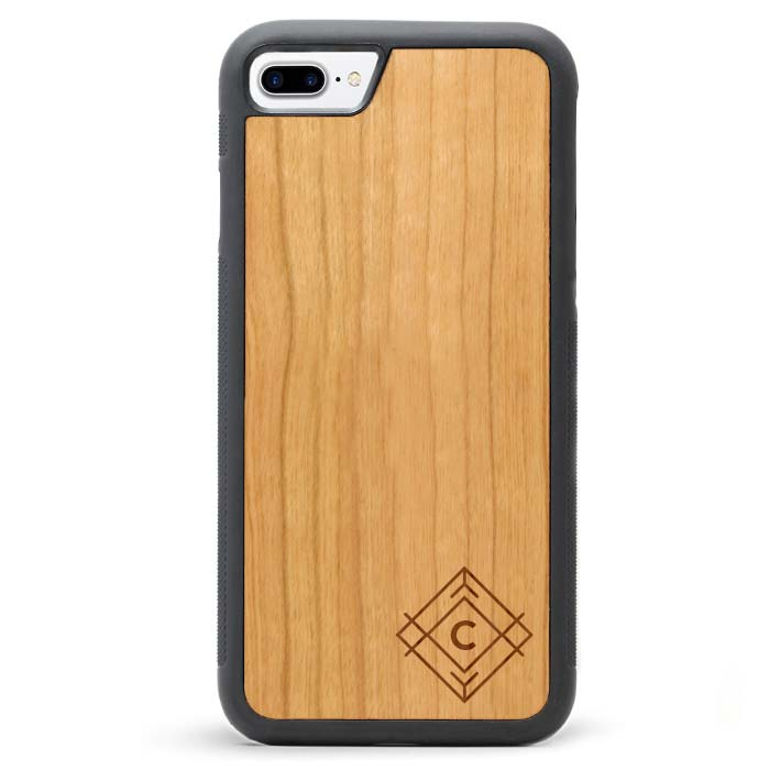 Custom Monogram Real Wooden iPhone 7 PLUS Cases Tribal
