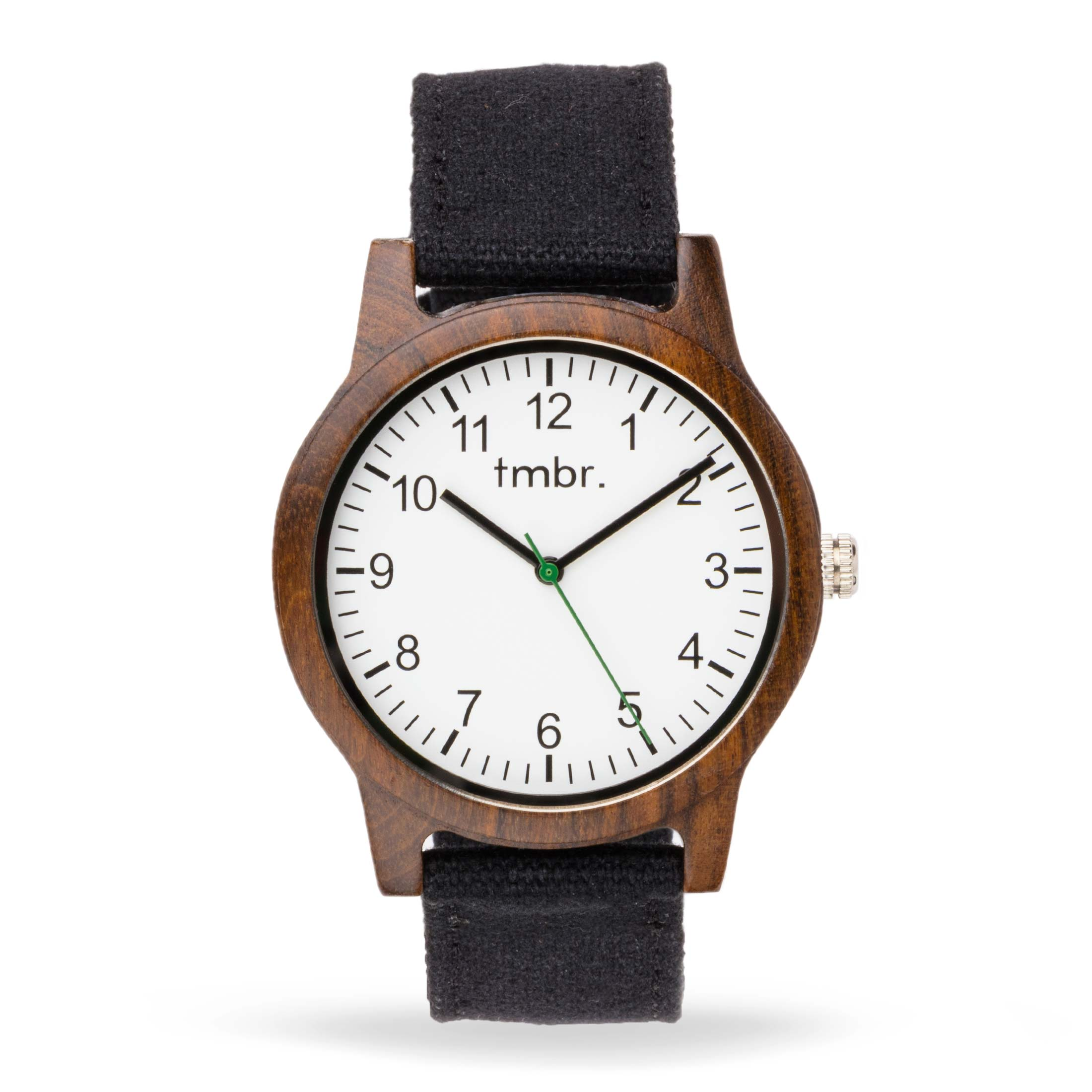 Tmbr Burly Wood Watch With Leather Band
