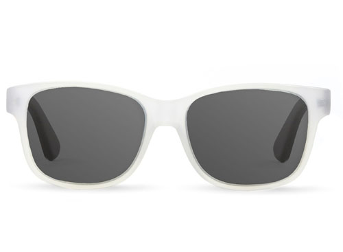 Clear Frame Bamboo Sunglasses
