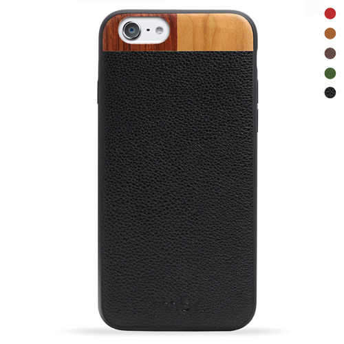 iPhone SE Leather Wallet Case Wood