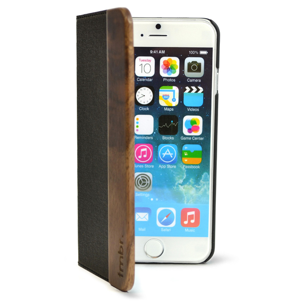 Folio Wood iPhone 7 Case Black