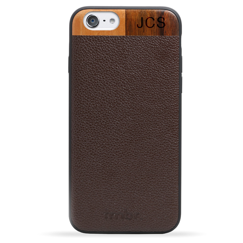Brown Monogram Leather & Wood iPhone 7 Phone Case