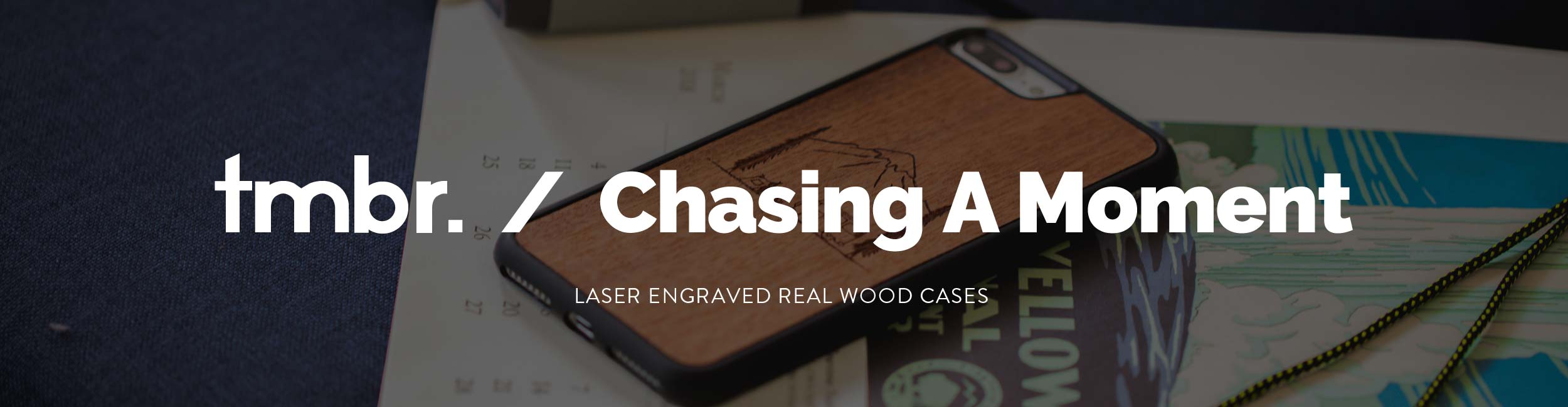 Chasing A Moment Wood iPhone 7/8/X Cases