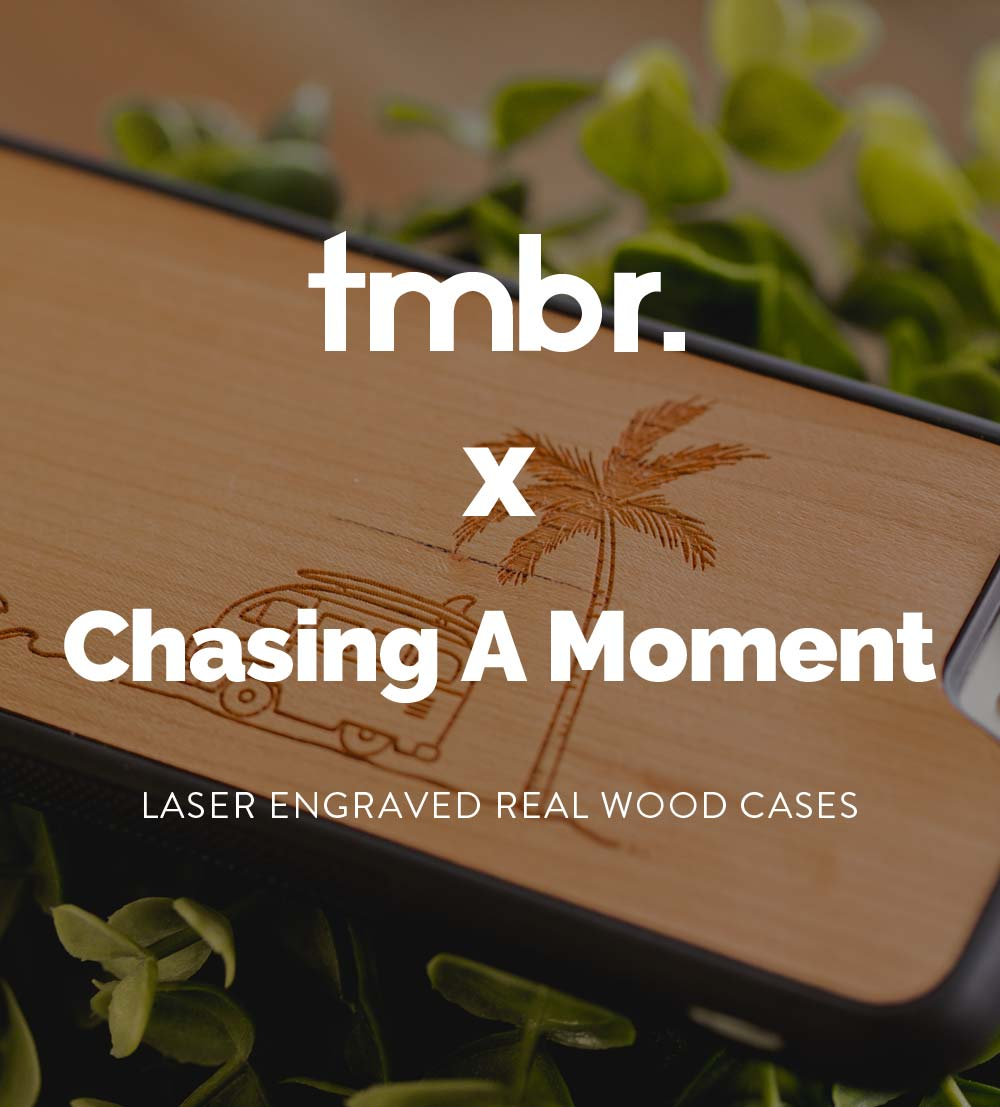 Chasing A Moment Wooden iPhone 7/8/X Cases