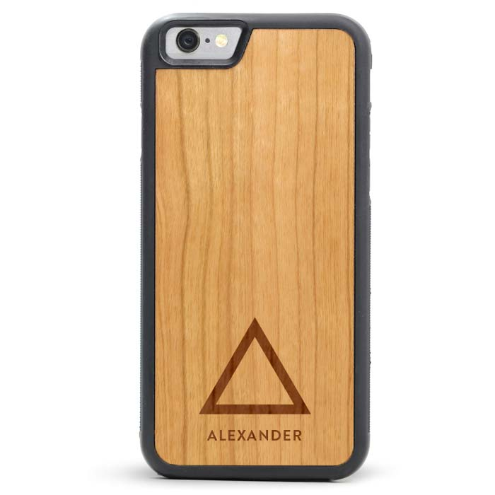 Custom Engraved Monogram Wood iPhone Case