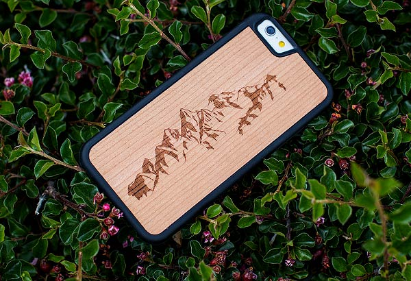 Custom Engraved Wood iPhone 6/7 Phone Cases