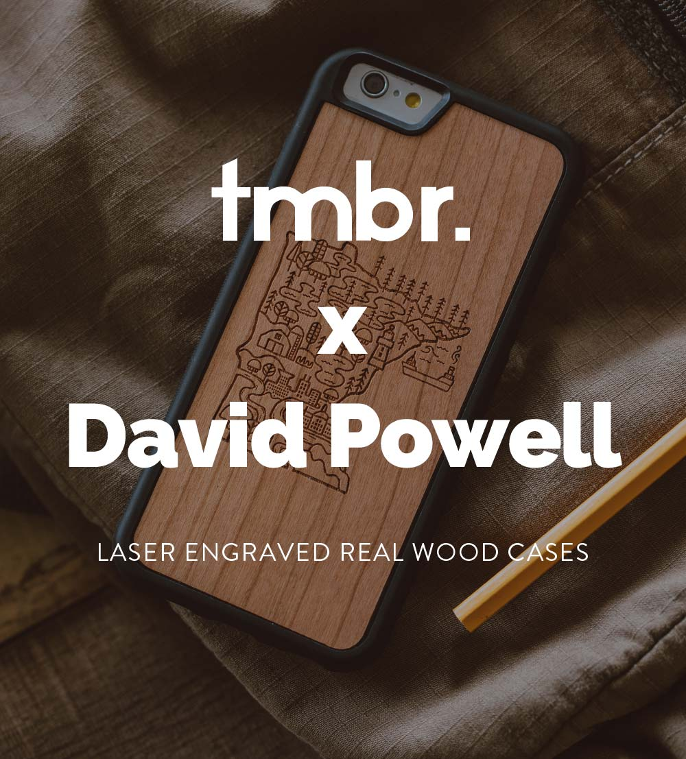 David Powell Wooden iPhone 7/8/X Cases