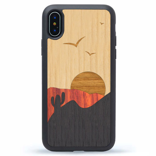 iPhone XS Max Wood Desert Sunset Case