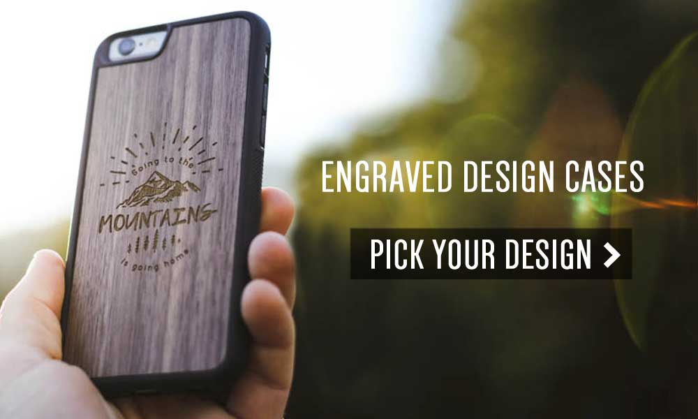 Engraved Wood iPhone 7 Cases