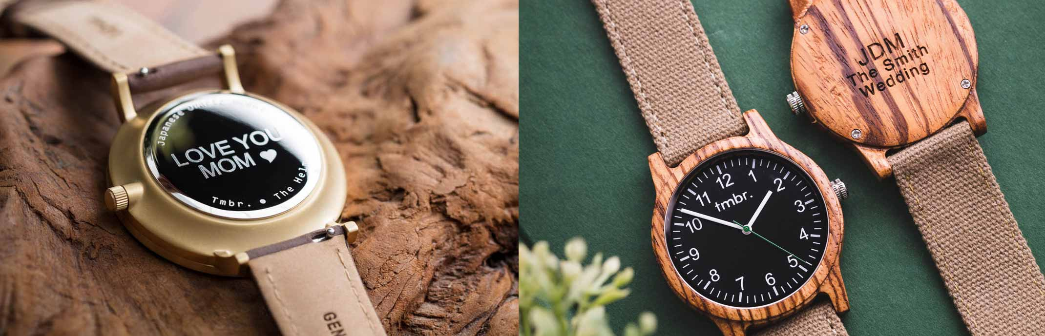 Tmbr. Personalized Men's Wooden Watches