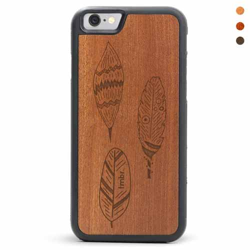 Wood iPhone Feathers Case
