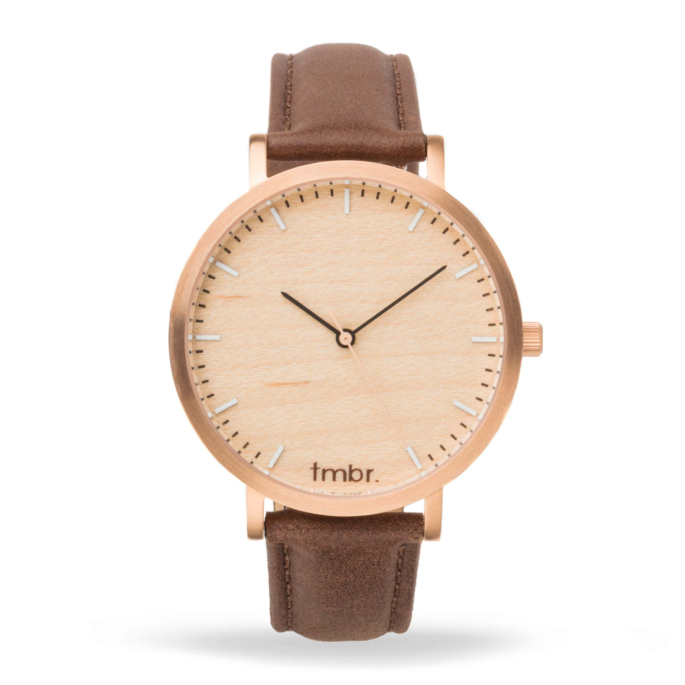 Helm Minimalist Wooden Personalized Watch Rose Gold