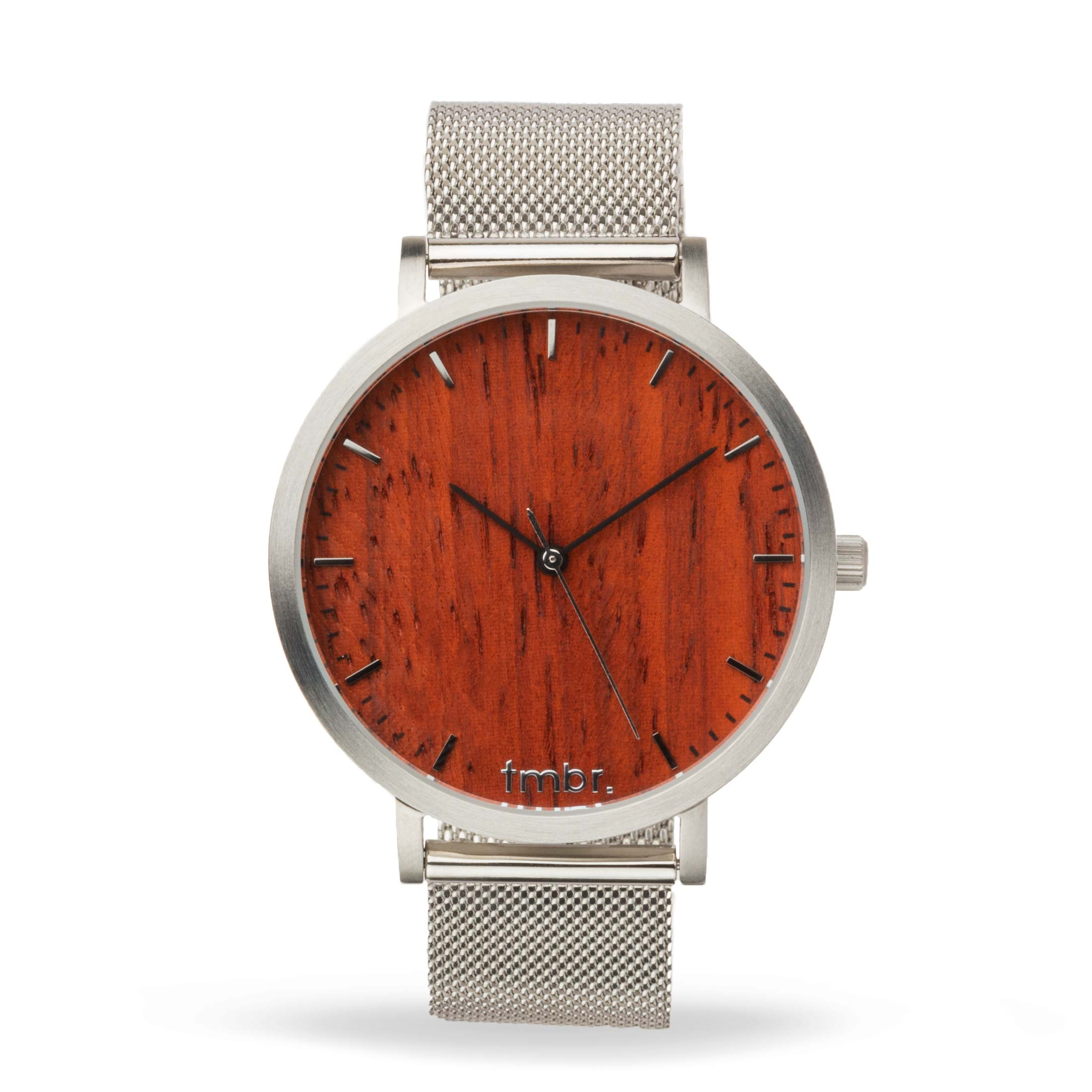 Engraved Tmbr Helm Minimalist Wooden Personalized Watch Rosewood