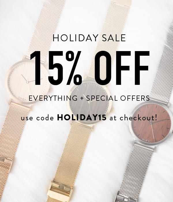 Holiday Sale - 15% OFF Everything