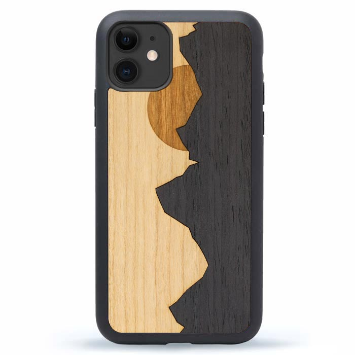 iPhone 11 Wood Case - Mountains