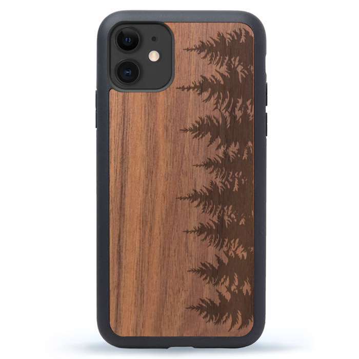 iPhone 11 Pro Max Case Wood Forest