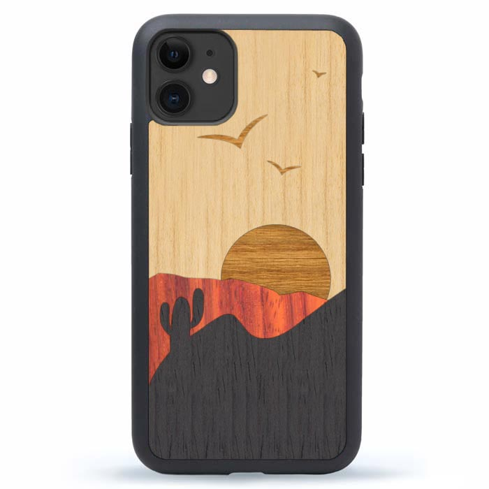 Wood iPhone 12 Case - Deseret Sunset