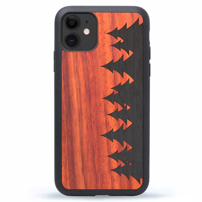 Wood iPhone 12 Case Forest
