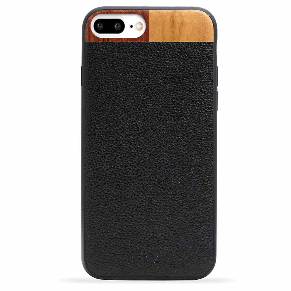 Engraved Wood iPhone 7 Plus Case Leather Wood