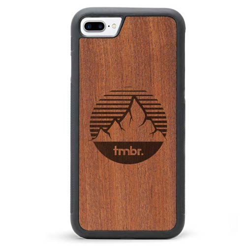 iPhone 7 Plus Wood Case - Mountain Sky
