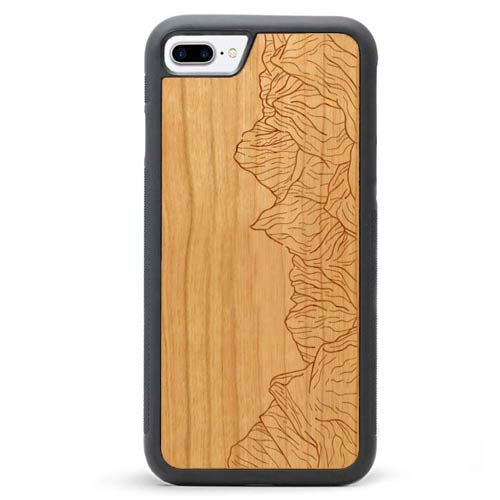 Wood iPhone 8 Plus Case - Mountain Lines