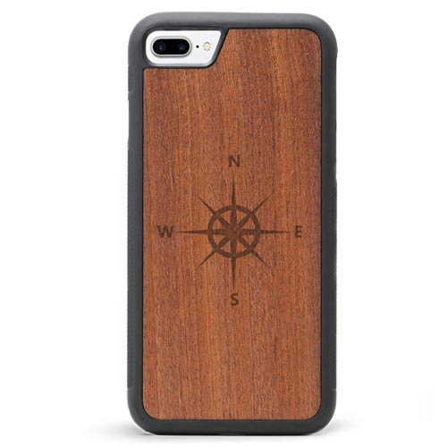 Engraved Wood iPhone 7 Plus Case Wind Rose