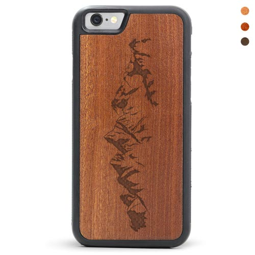 Mountain - iPhone SE Wood Case