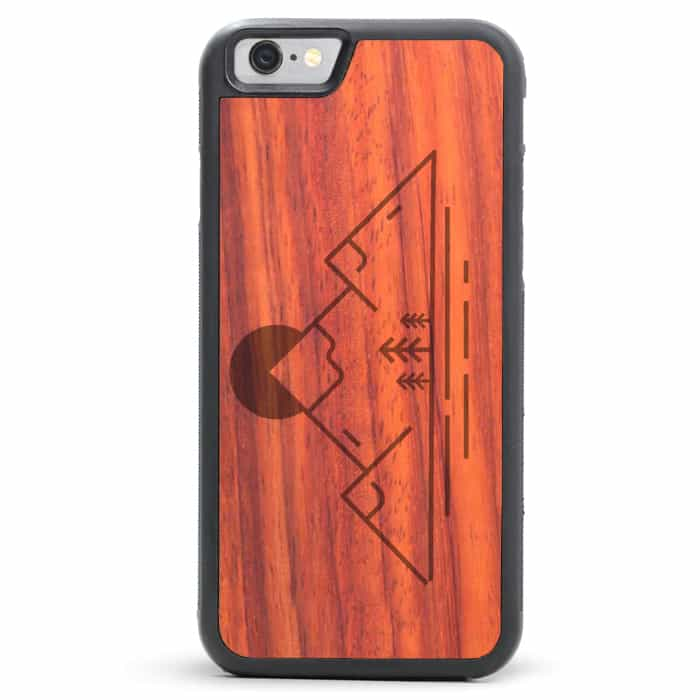 Padauk Engraved Wood iPhone SE Case