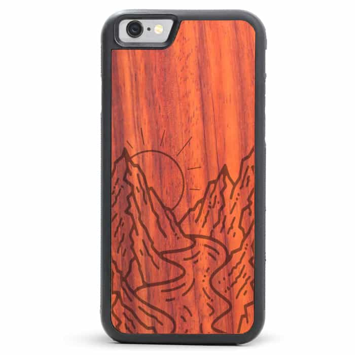 Mountain River iPhone SE Wood Case