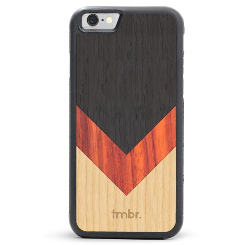 Chevron Inlay Wood iPhone SE Case