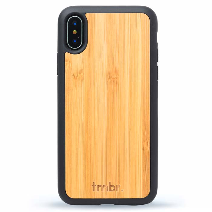 Wood iPhone X Case - Bamboo Wood