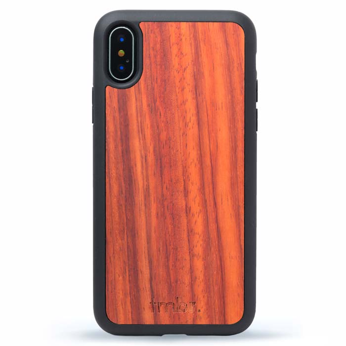Wood iPhone X Cases - Rosewood