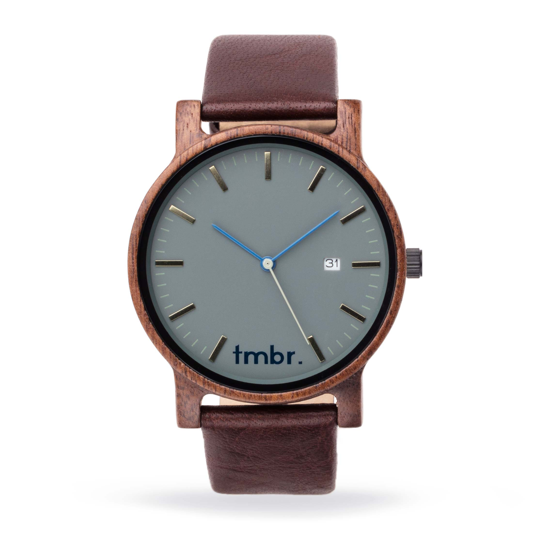 Tmbr Journeyman Wood Watch - Granite Gray
