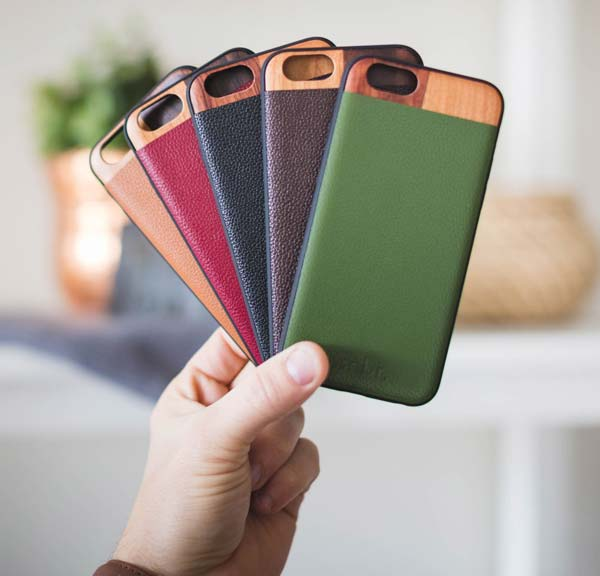 Leather and Wood iPhone 6/7 Cases
