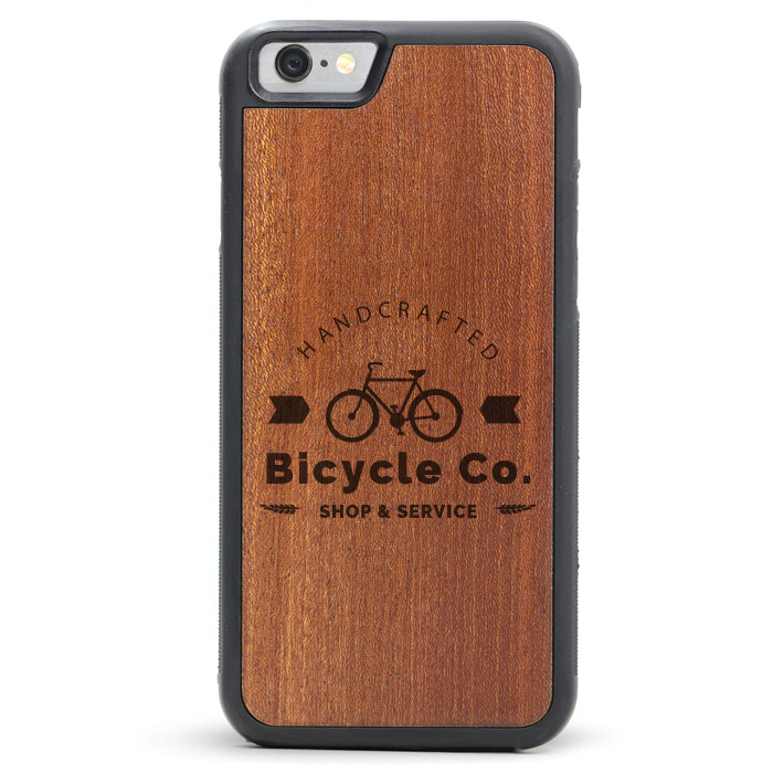 Custom Logo - Wood iPhone Case