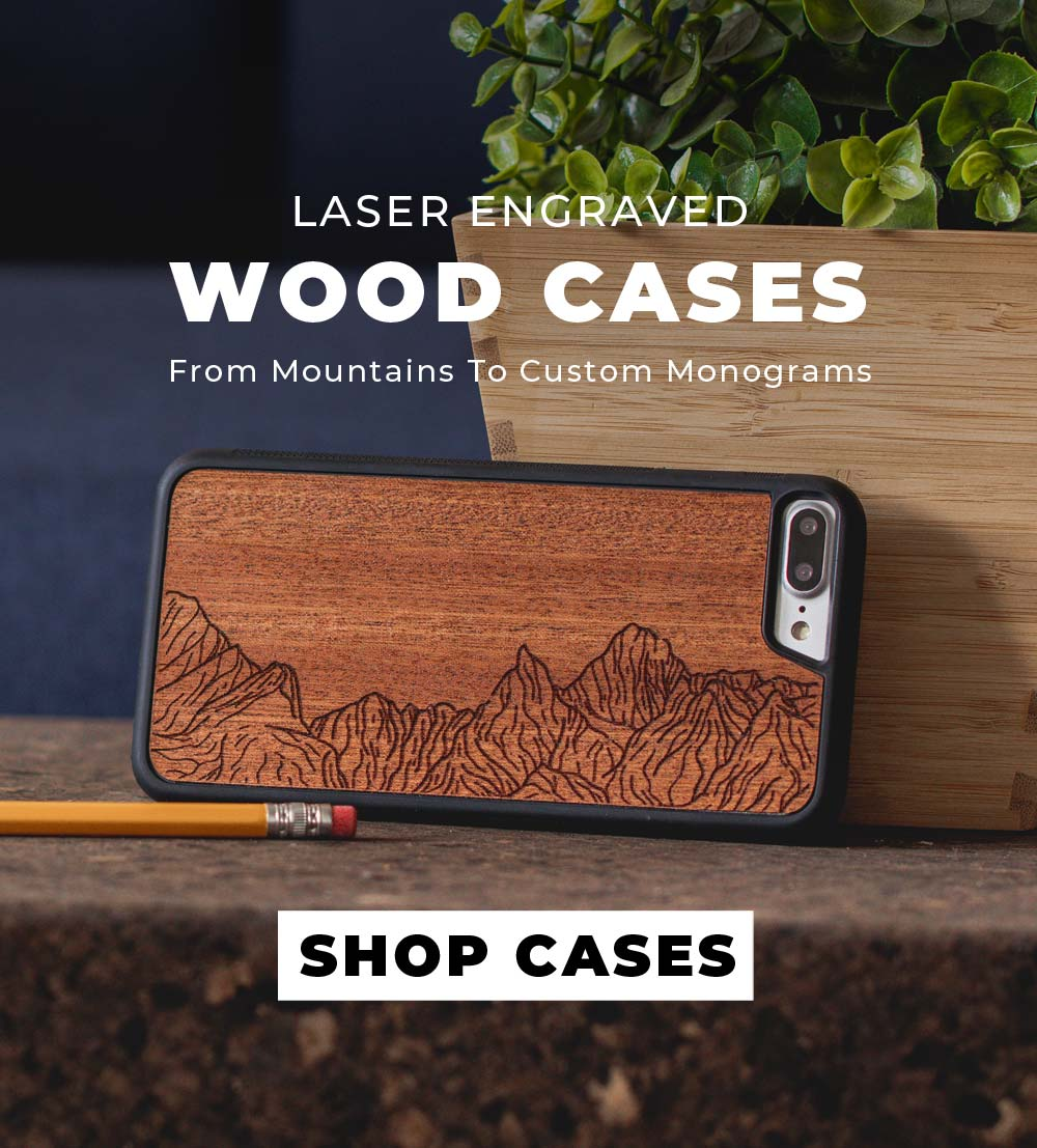 Wood iPhone 8 Cases - Mountains To Custom Monograms